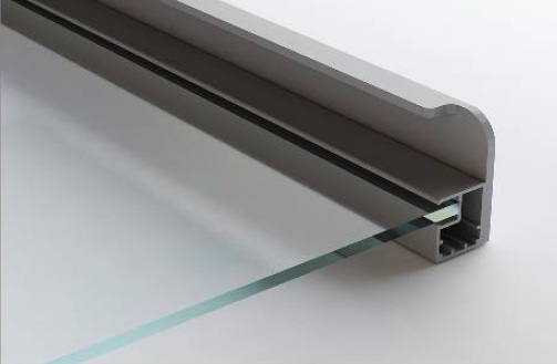 integrated handle for narrow aluminum frames